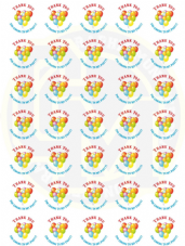 Unisex Birthday Stickers 37mm Round Paper - Thank You For Coming To My Party